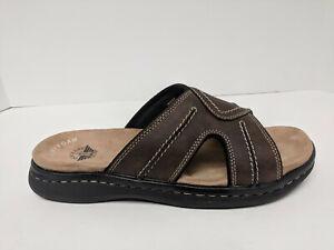 Dockers Sunland Slide Sandals, Dark Brown, Mens 8 M