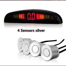 Silver Car Reverse 4 Sensors Reversing Parking Radar Sound Alert Alarm System