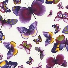 Viola Butterflies Cotton Quilt Fabric by Timeless Treasures Purple Lavender