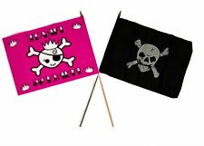 "12x18 12""x18"" Wholesale Combo Pirate Princess & Crossbones Skull Stick Flag"