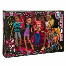 Monster High un Pack of Trouble Set 4 Paquete Hombres Lobo-Clawdeen, Howleen, Clawd