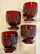Avon Cape Cod Water Goblet Ruby Red (set of 4)
