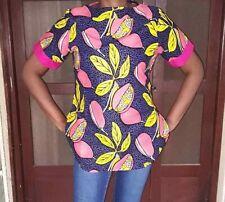 'Venus' Short Sleeve Casual Tops New African Ankara Printed Fabric UK Sizes 8-16