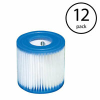 Intex Swimming Pool Easy Set Filter Cartridge Replacement Type H (12 Pack)