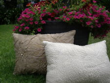 NEW - LINEN HOUSE Stitched Pattern Cushion Size: 35 x 45cm RRP: $44.95