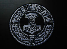 Thor mit uns Aufnäher / Patch - Viking Wikinger Donar Gott Mjölnir Runen Vikings