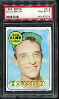 1969 Topps Baseball #119 DOUG RADER Houston Astros PSA 8 NM-MT
