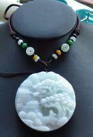 Certified Green Natural A Jade jadeite Pendant Landscape painting 山水画 484114