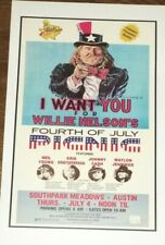 Willie Nelson Concert Poster - 11 x 17 - Johnny Cash, Waylon - Country Music