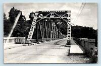 Newaygo, MI - c1940s STREET SCENE BRIDGE VIEW - RPPC - Y5