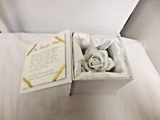 2002 Roman Inc Rose of Peace Figurine-Original Satin Lined Box