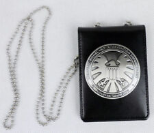 Marvel Agents of shield S.H.I.E.L.D. Metal SHIELD Badge Pin & ID Holder Wallet