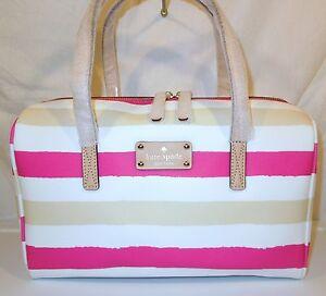 NWT KATE SPADE Kaleigh Bondi Road Satchel Purse Handbag Pink/Cream WKRU1962 $298