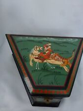 Wildwood Accents Vintage Nesting Boxes Tiger Attacking Deer Hunter on Horseback