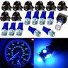 10Pcs T10 5SMD PC194 168 LED Blue Car Instrument Cluster Dash Gauge Light Bulbs