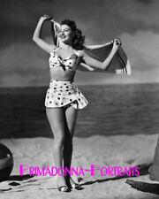 AVA GARDNER 8X10 Lab Photo 1940s Sexy Swimsuit, Beach Babe Glamour Portrait