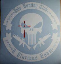 "ISIS HUNTING CLUB TERRORIST TACTICAL HUNTER USA,USMC custom made vinyl decal 15"""