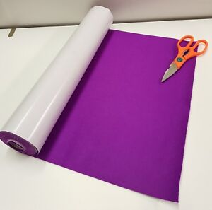 Five Metre's x 450mm wide roll of PURPLE STICKY BACK SELF ADHESIVE FELT / BAIZE
