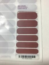 New Jamberry Nail Wrap Full Sheet Marsala Matte Solid Maroon