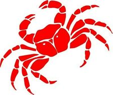 "CRAB WILDLIFE Vinyl Decal Sticker-6"" Wide White Color"