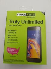 Simple Mobile Samsung Galaxy J2 Core with Free $50 first month plan  included