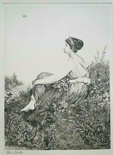 Beautiful Vintage Etching of The Lark, after Thumann