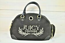 JUICY COUTOURE Small Pet Carrier Tote Velour