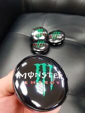 4x Monster Energy 60mm Felgendeckel Nabendeckel Nabenkappen Alufelgendeckel Schw