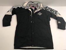 Vtg Los Angeles Kings Starter Jacket Parka Trench Coat Down Filling Large L NHL
