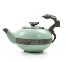 1pc Chinese Porcelain Celadon RU Kiln teapot Auspicious Clouds tea pot Orchid