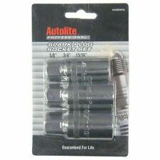 AutoLite Spark-Plug Socket Set    3pc   5/8''  3/4''   13/16''    Great Quality