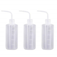 3pcs Plastic Safety Squeeze Bottle Watering Tool Lab Tip Liquid Storage 16 Ounce