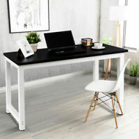 Wood Computer Desk PC Laptop Table Study Workstation Home Office Black New