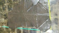 "Buffalo hide leather skin hide Distressed Brow/Green 25"" x 49"" Inches 4 oz."