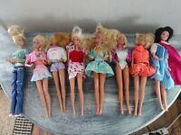 Vintage 1960-70's Barbie Dolls Lot Of 8