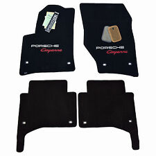 2003 - 2017 Porsche Cayenne S Black Floor Mats Embroidered 2 Logos Quality 32oz