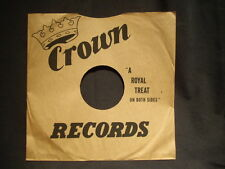 One 10 inch CROWN Records company sleeve     no record