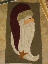 """PRIMITIVE HOOKED RUG PATTERN ON MONKS """"CLAUS"""""""
