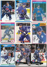 LOT OF 9 QUEBEC NORDIQUES  SIGNED AUTO CARDS  STARS