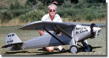 1/4 Scale Spirit of St Louis Giant Scale RC AIrplane Rolled Plans