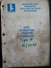Eicher Schlepper 3153 Ersatzteilliste
