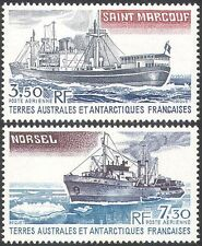 FSAT/TAAF 1981 Supply Ships/Steam/Boats/Nautical/Polar/Transport 2v set (n23167)