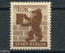 SBZ 10 Pfg. Berliner Bär 1945** seltener Plattenfehler Michel 4 A I (S4179)