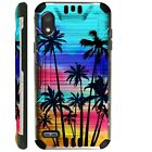 SILVERGUARD For TCL A2X A2 A1 Hybrid Phone Case Cover SUNSET PALM TREE