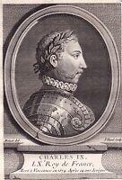 Portrait XVIIIe Charles IX roi de France Valois Angoulême Saint-Germain-en-Laye