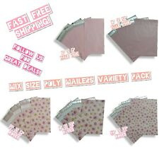 100 Pink Theme Poly Mailers Mix Size Variety Pack (20 ea) 6x9, 9x12 & 14x17