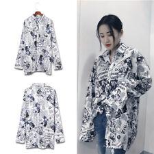 Newspaper Pocket Harajuku  Blouses Long Sleeve Autumn T-Shirts for Women Gifts