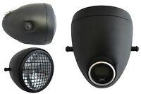 """Headlight & Integrated Digital GPS Speedometer 5 3/4"""" Vintage Style Black Mesh"""