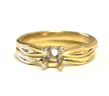 18k yellow gold ladies engagement ring wedding band mounting 5.0g semi mount