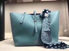 NWT Coach Retail Tote Shoulder Bag in Leather Bag Cyan